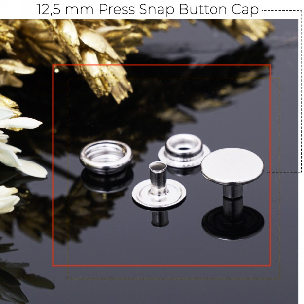 New Production - 12,5 mm Press Snap Button Cap