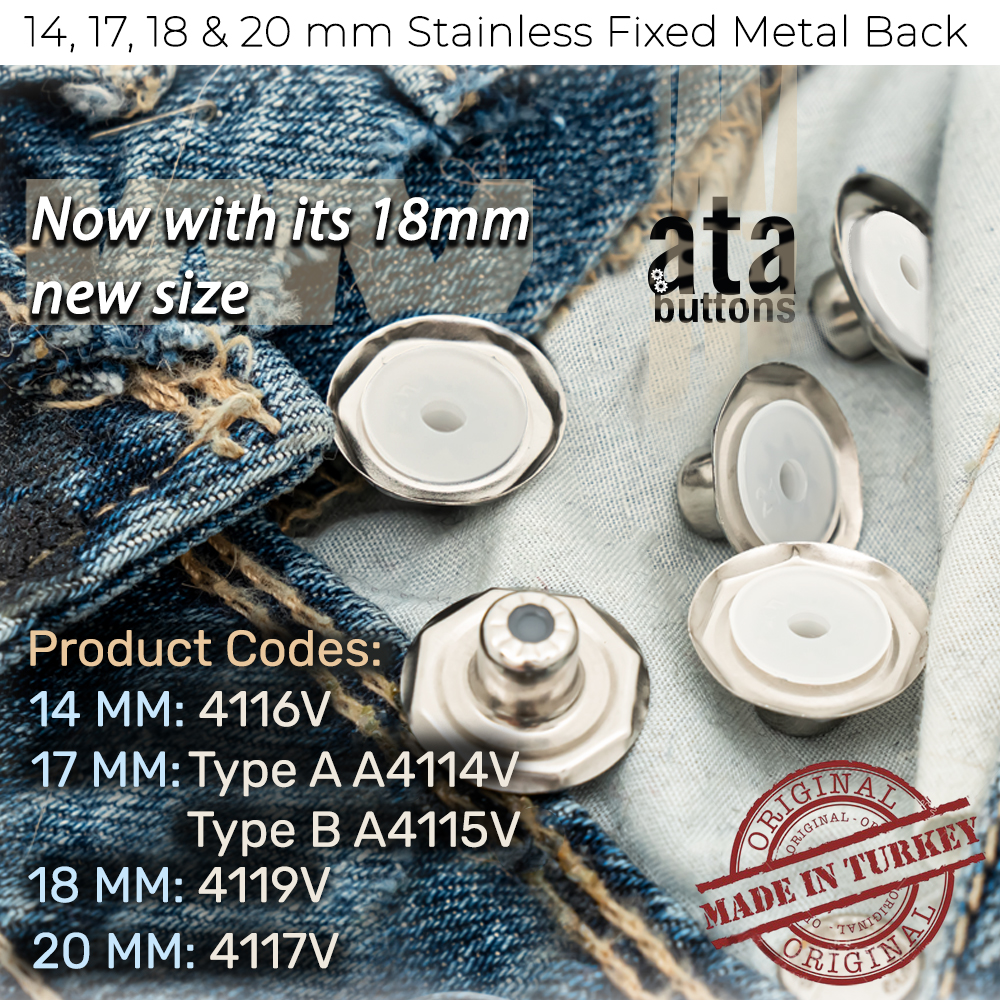 New Production - 18 mm Stainless Fixed Metal Back