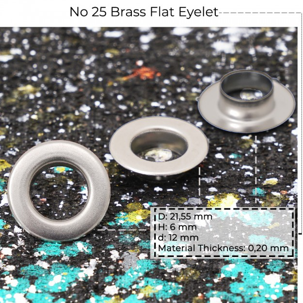 New Production - No 25 Brass Flat Eyelet