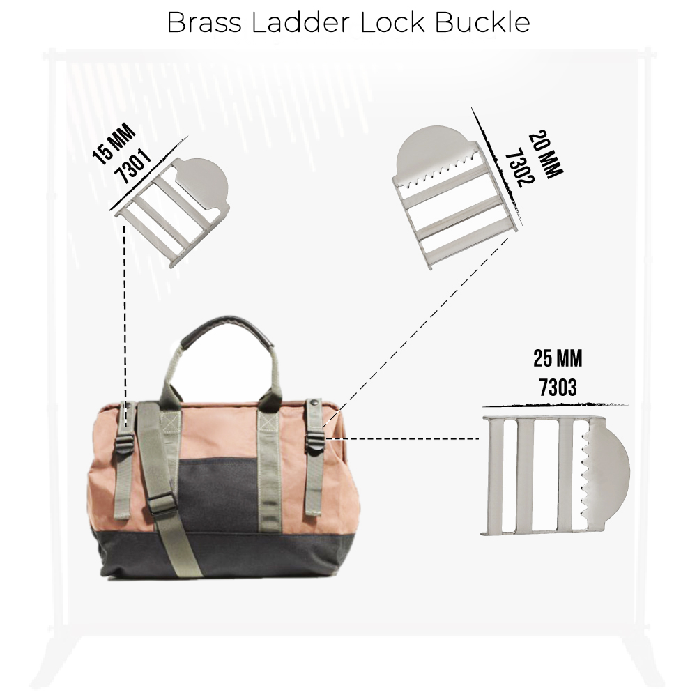 New Production - Brass Ladder Lock Buckle