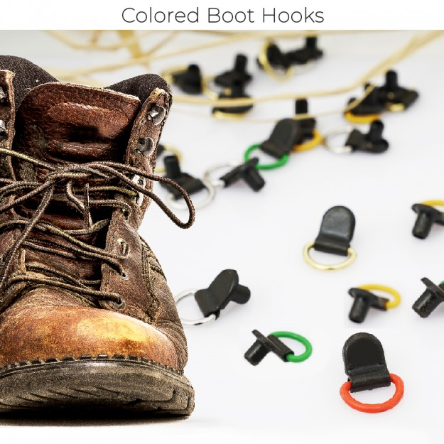 New Production - Colored Boot Hooks