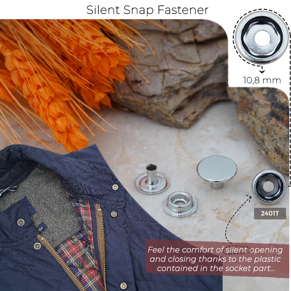 New Production - 10,8 mm Silent Snap Fasteners