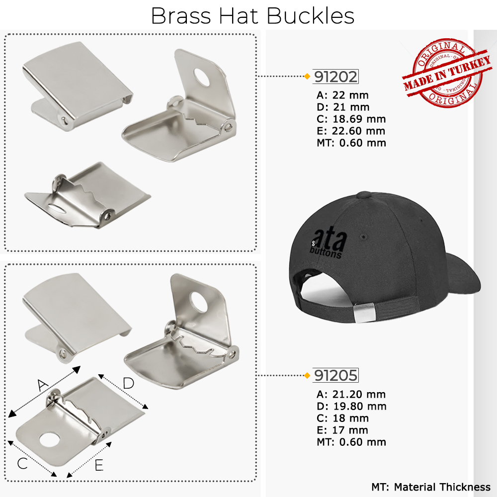 New Production - Brass Hat Buckles