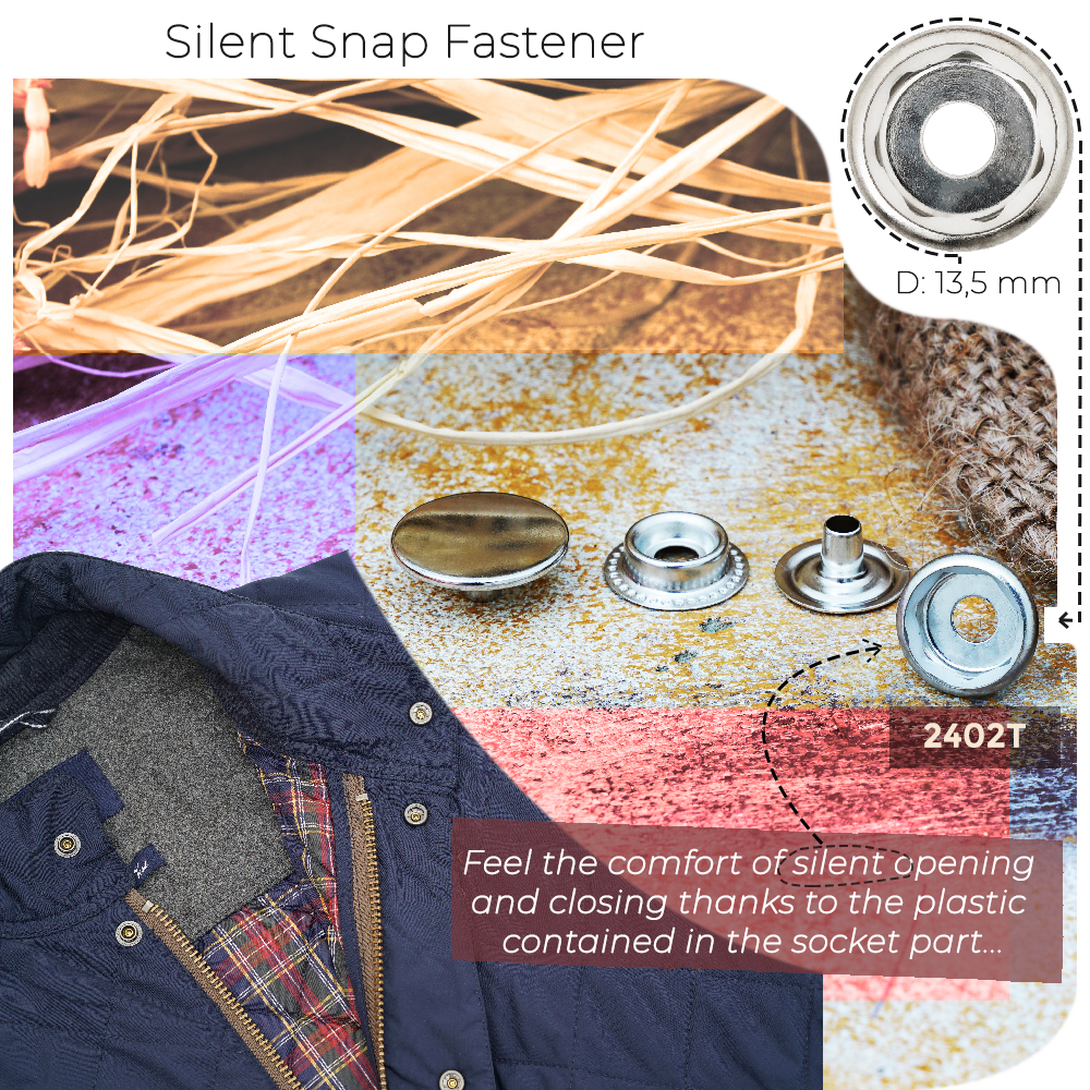 New Production - Silent Snap Fastener