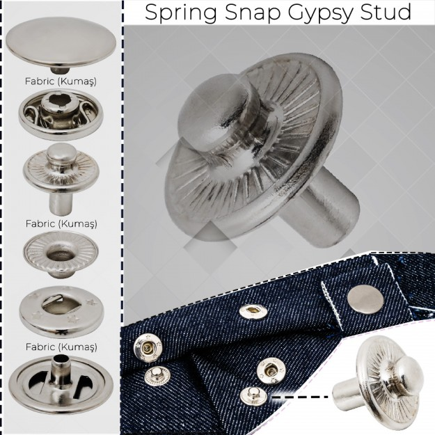 New Production - Spring Snap Gypsy Stud