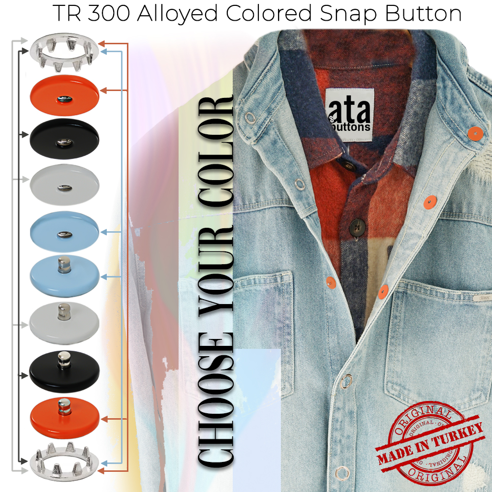 New Production - TR 300 Alloyed Colored Snap Button