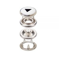 Prong Snap Button With Double Coated Laser Print