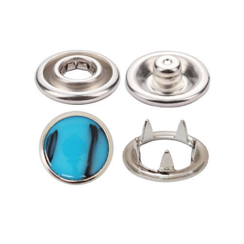 Prong Snap Button With Marble Top