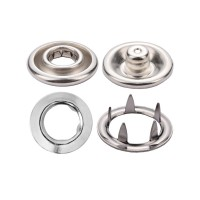 Prong Snap Button with Wide Ring