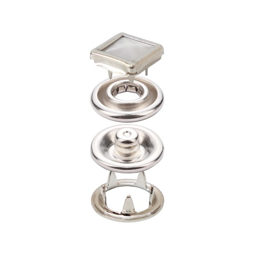 Prong Snap Button With Square Cap