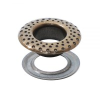 Eyelets with Logo in Brass