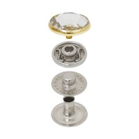 Vt2 Spring Snap Button With Crystal Cap