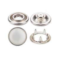 Prong Snap Button with Pearl Cap