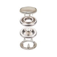 Prong Snap Button with Transparent Cap